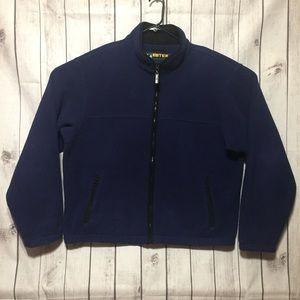 Vtg Eddie Bauer EBTek XL Tall Blue Fleece Jacket